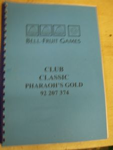 Club Classic Pharoahs Gold - Scorpion 4 Fruit Machine Manual